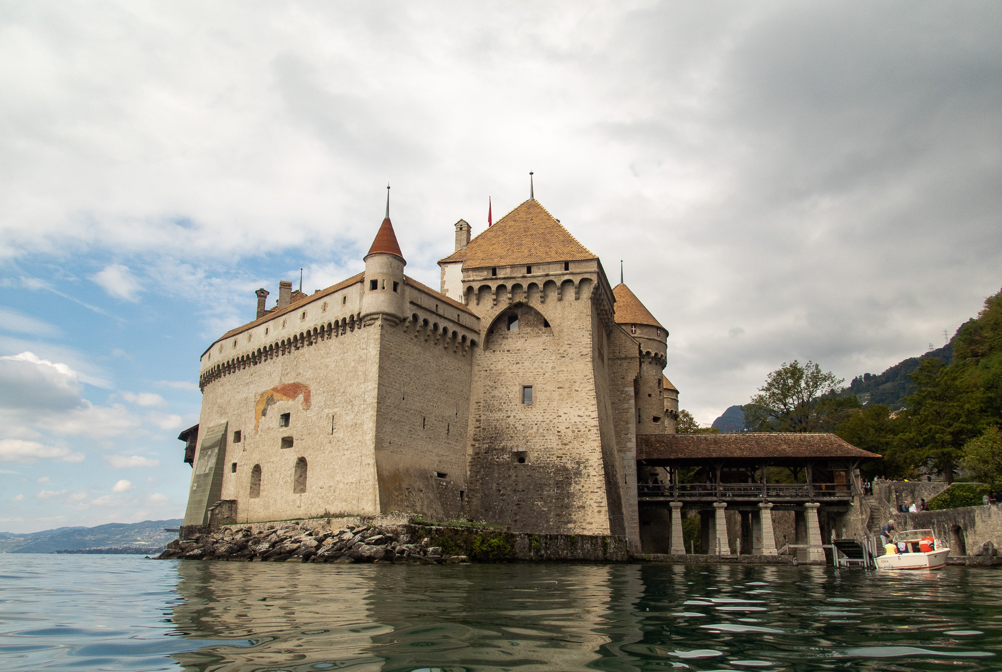 Castle Chillon, water view